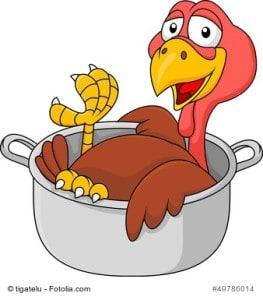 Turkey in the saucepan