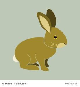 Hase Kaninchen Vektor von der Seite