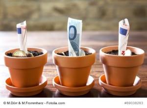 Konzept: Finanzplanung und Investition Euro und Europa